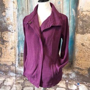 Eddie Bauer-Purple Sweater Jacket